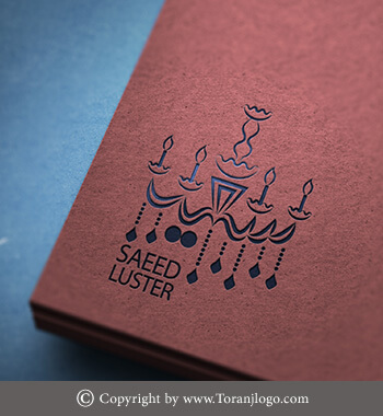طراحی لوگوی لوستر سعید