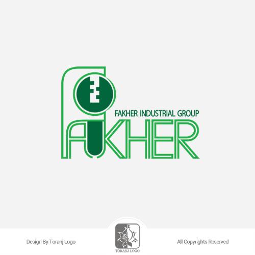 طراحی لوگوی قفل فاخر (Fakher)