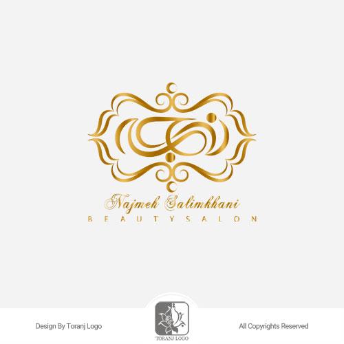 طراحی لوگوی سالن زیبایی نجمه