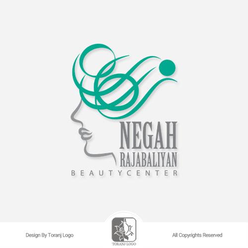 طراحی لوگوی سالن زیبایی نگاه