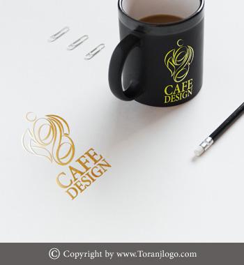 طراحی لوگوی کافه دیزاین