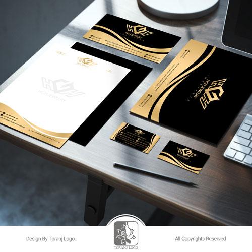 طراحی ست اداری موسسه جواهرسازی HGH