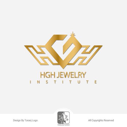 طراحی لوگوی موسسه آموزش جواهرسازی HGH